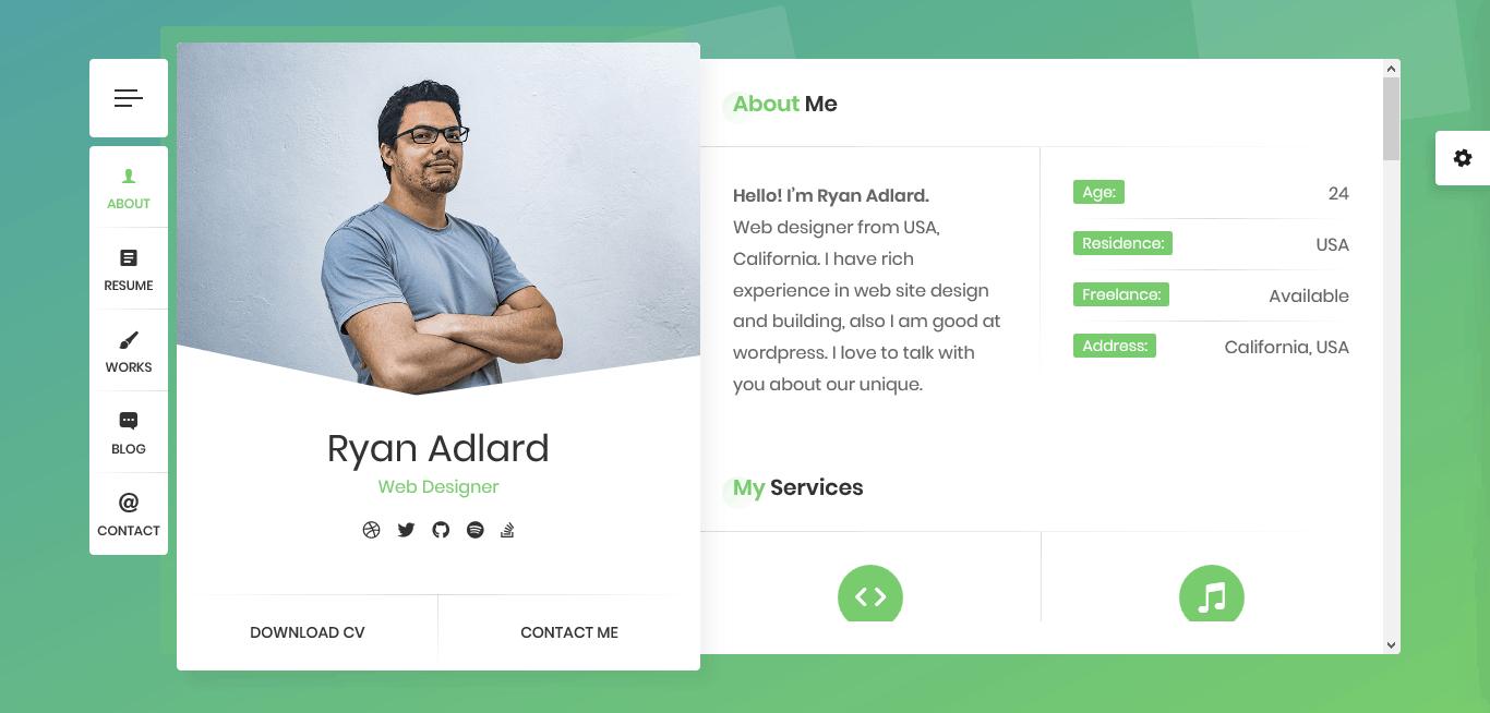 Уникально портфолио для веб-дизайнеров