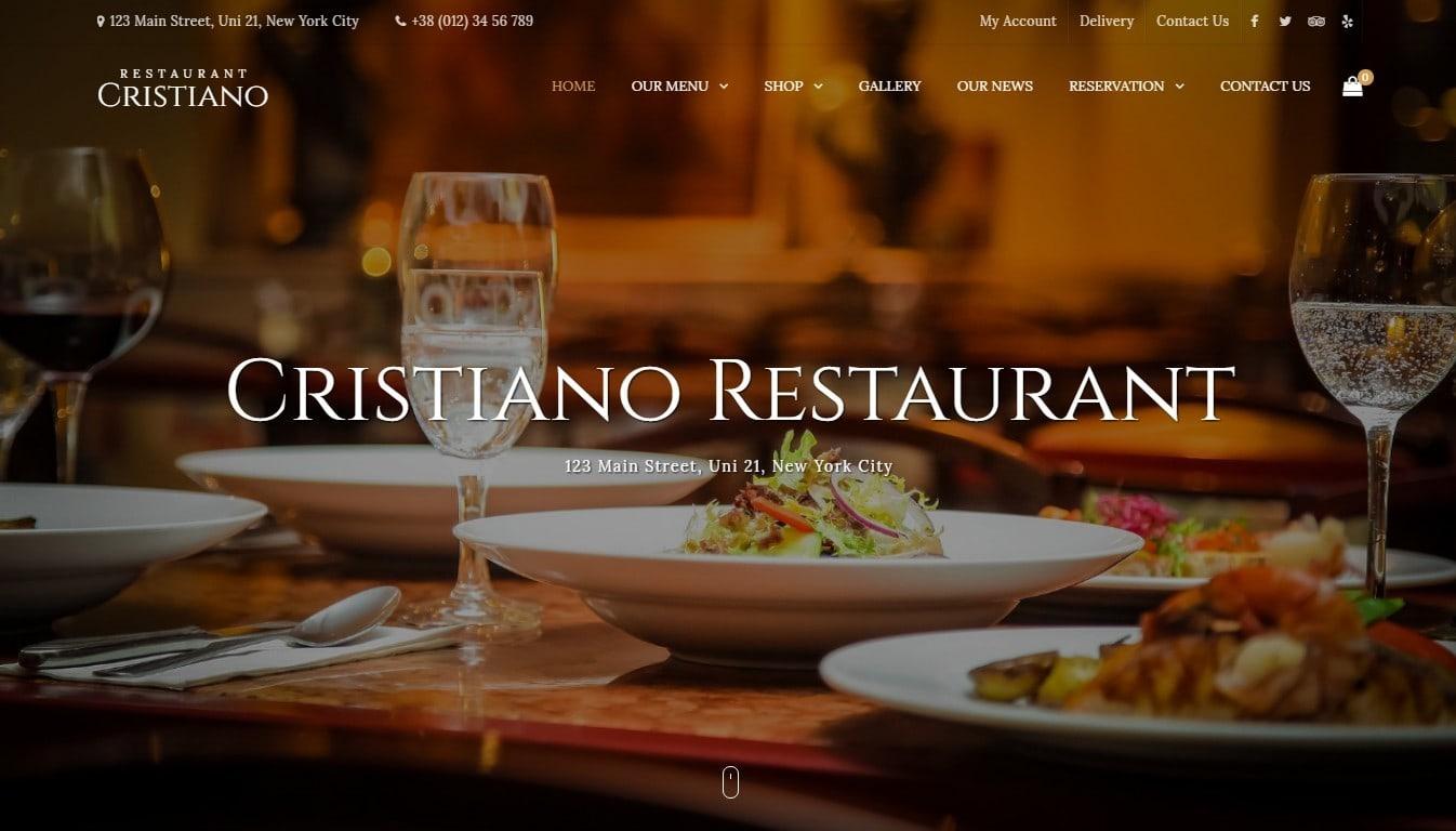 Лучшие WordPress шаблоны для клуба-бара-ресторана