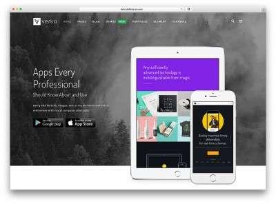 Landing page шаблоны на WordPress для приложений-apps