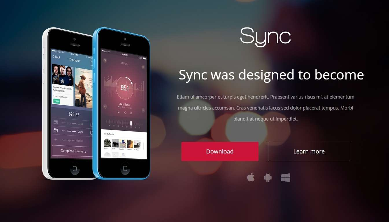 Landing Page WordPress Templates for Apps-