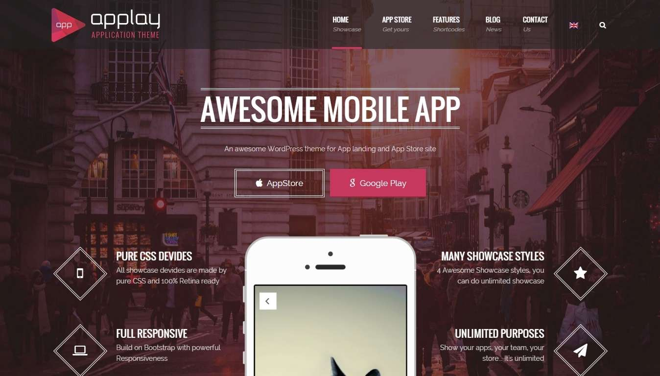 Landing Page WordPress Templates for Apps-2015-apr-