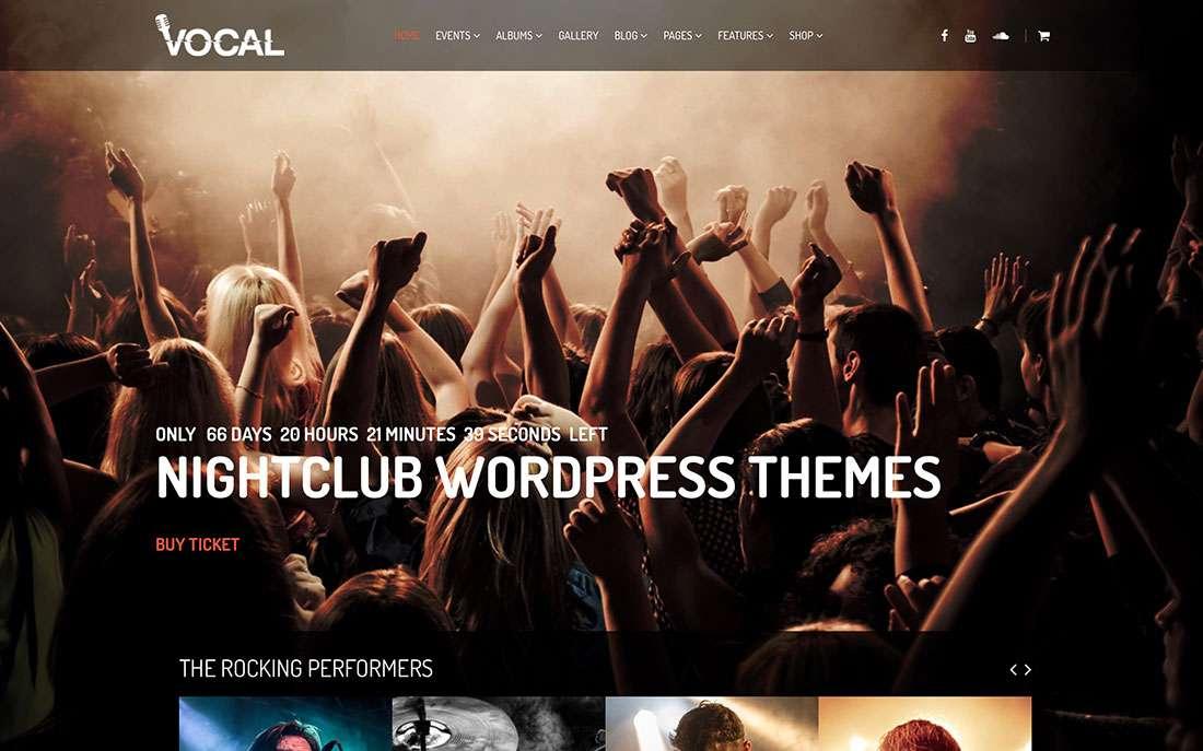 Лучшие WordPress шаблоны для клуба-бара-ресторана 2015