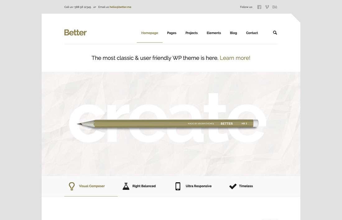 Лучшие минималистские темы WordPress для сайтов компаний и организаций