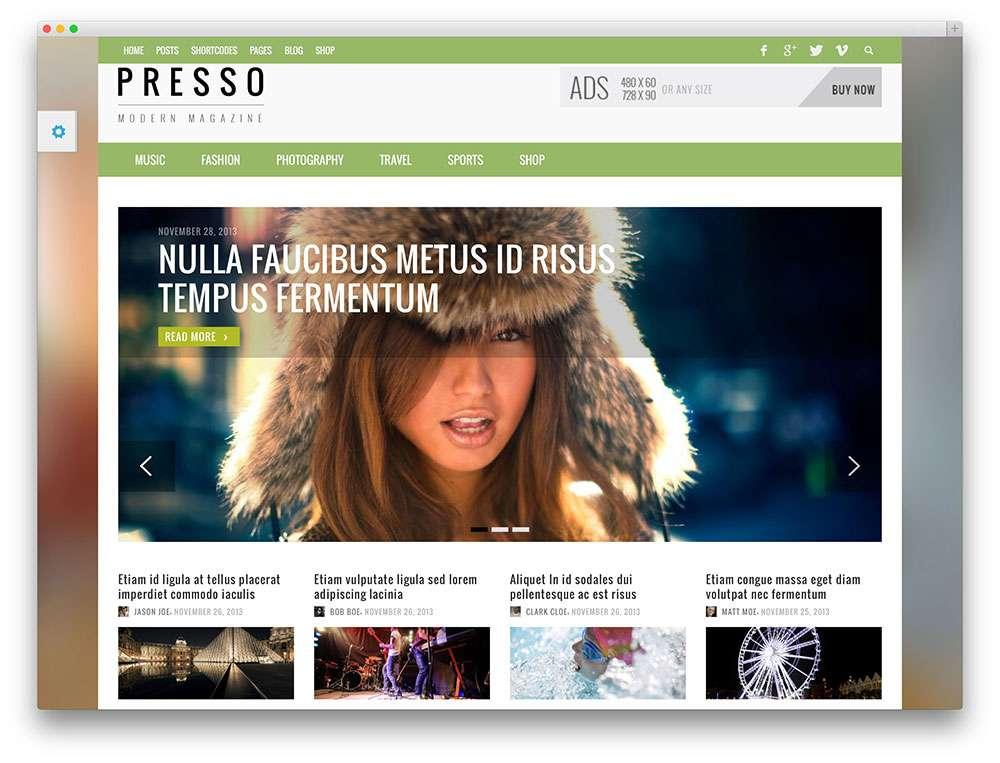 Лучшие минималистские темы WordPress для портфолио и блога 2015