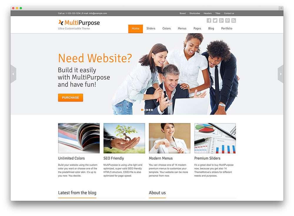 Универсальные WordPress темы для сайта