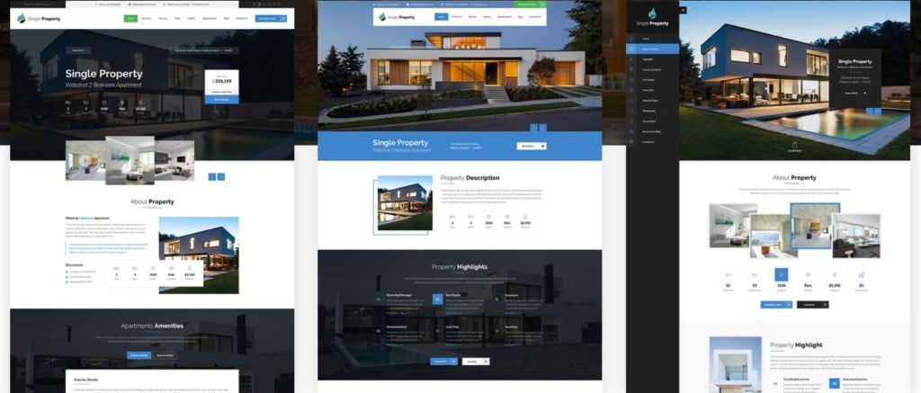 русские шаблоны WordPress для недвижимости для сайтов с каталогом и онлайн-оплатой 06
