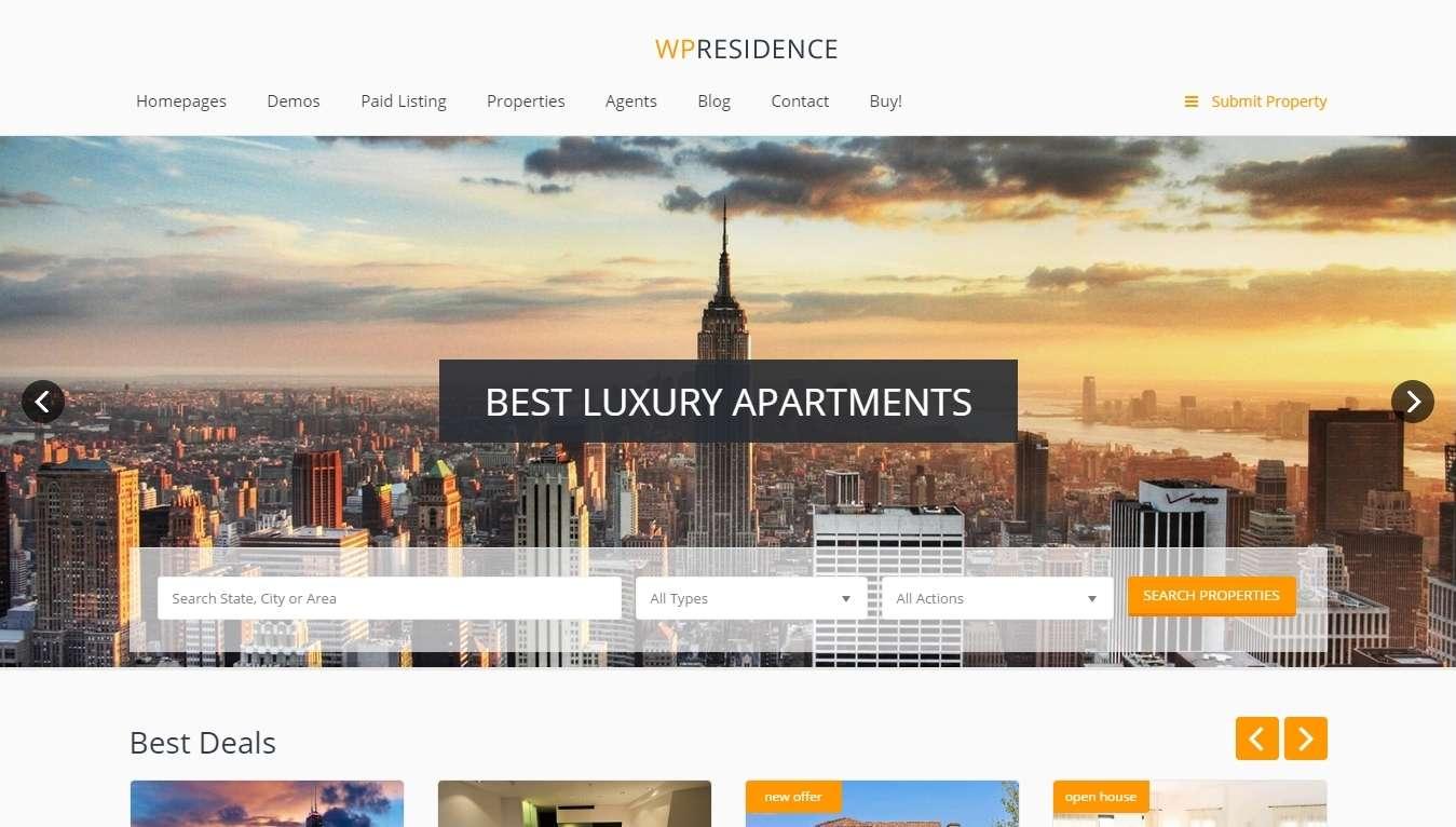 Лучшие шаблоны WordPress для недвижимости
