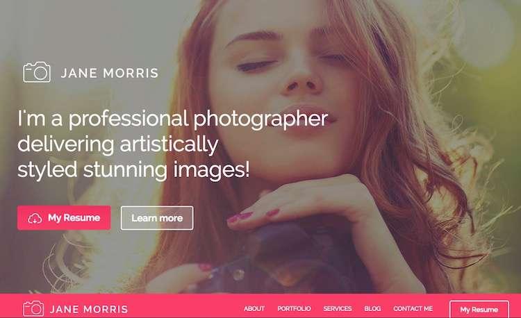 Скачать бесплатные шаблоны Вордпрес для фотографа