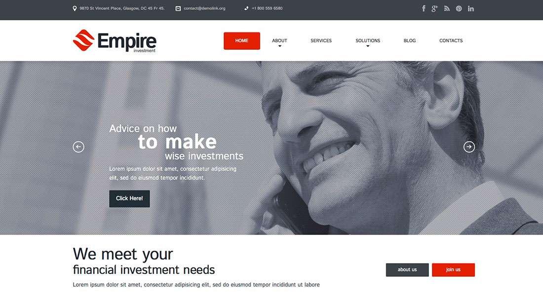 Бизнес стартап – Сайты на WordPress для открытия бизнеса 2016