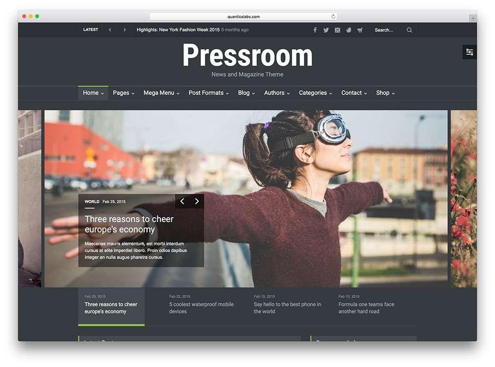 Шаблоны WordPress-com для серьезных профессиональных cайтов 2016