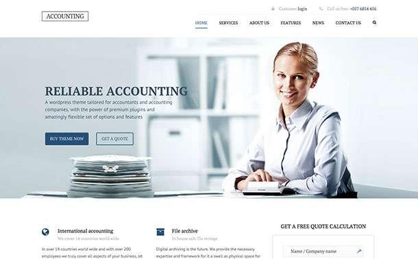 Если вам нужно создать сайт для бухгалтерской фирмы или для продвижения финансовых услуг, то WordPress темы в этой коллекции помогут вашему проекту стать успешным, ведь мы представляем 10 лучших тем WORDPRESS для бухгалтера и финансиста.