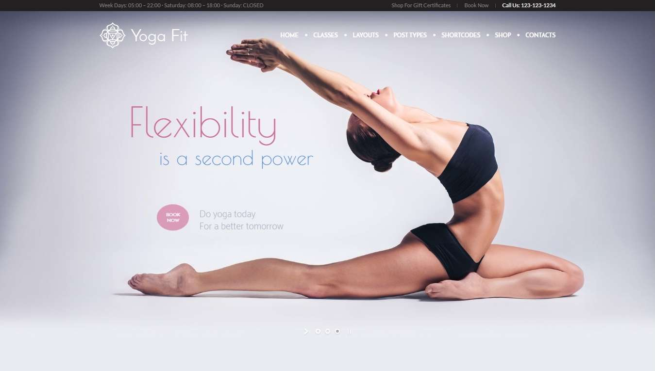 Готовый сайт для Йоги