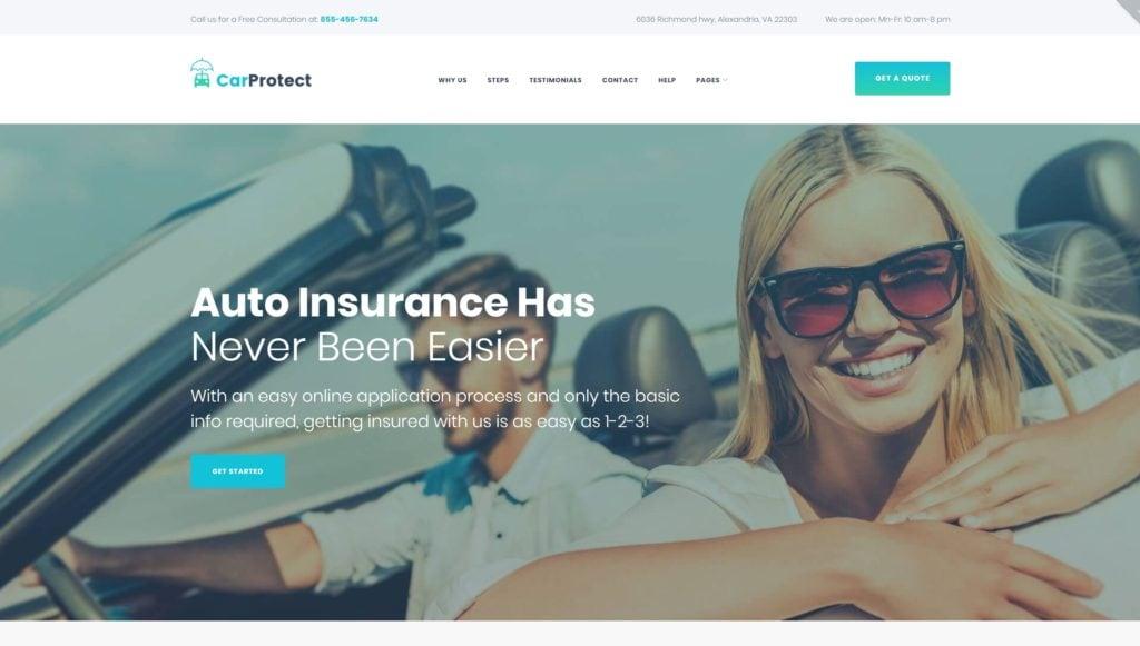 Авто шаблоны WordPress и шаблоны сайта авто для аренды и проката 02
