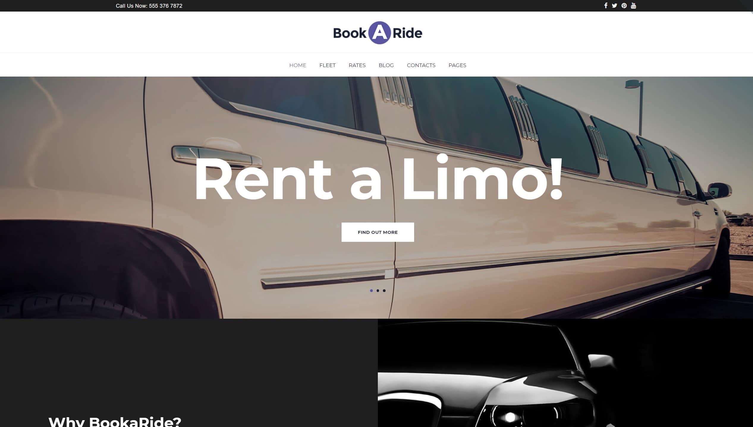 Авто шаблоны WordPress и шаблоны сайта авто для аренды и проката