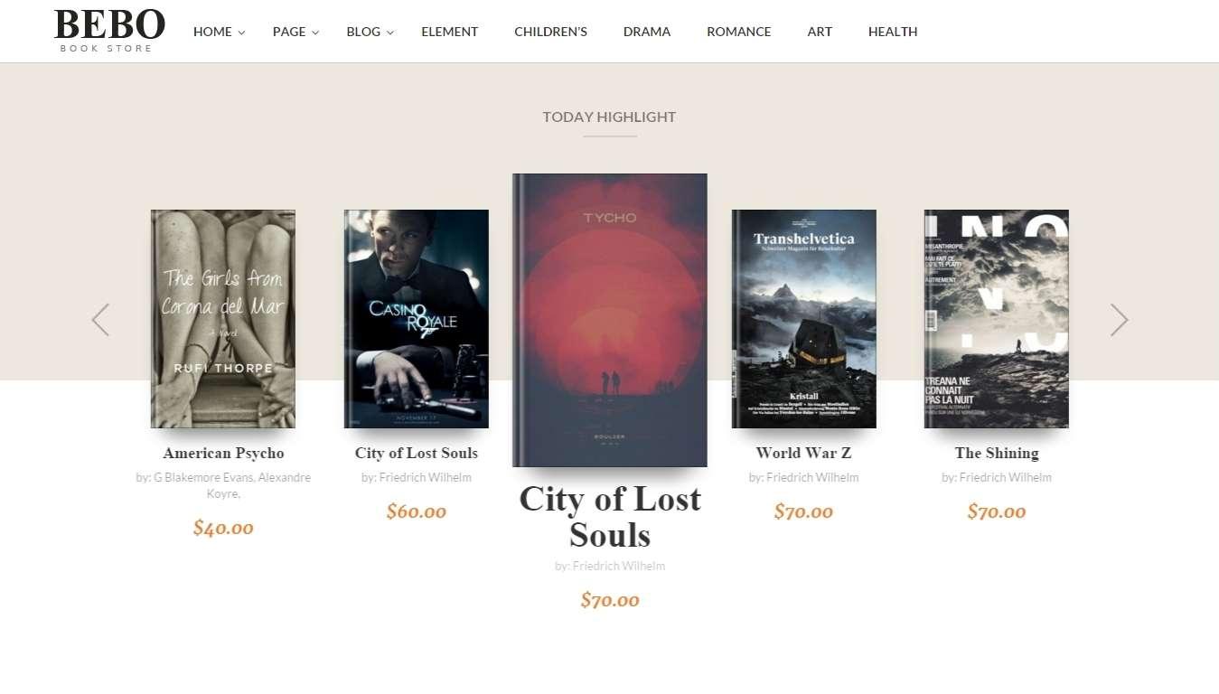 книжный магазин на wordpress