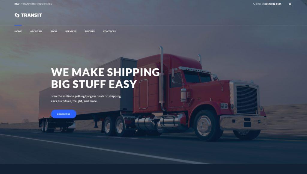 Шаблоны WordPress для логистики и транспорта с формой заказа 01
