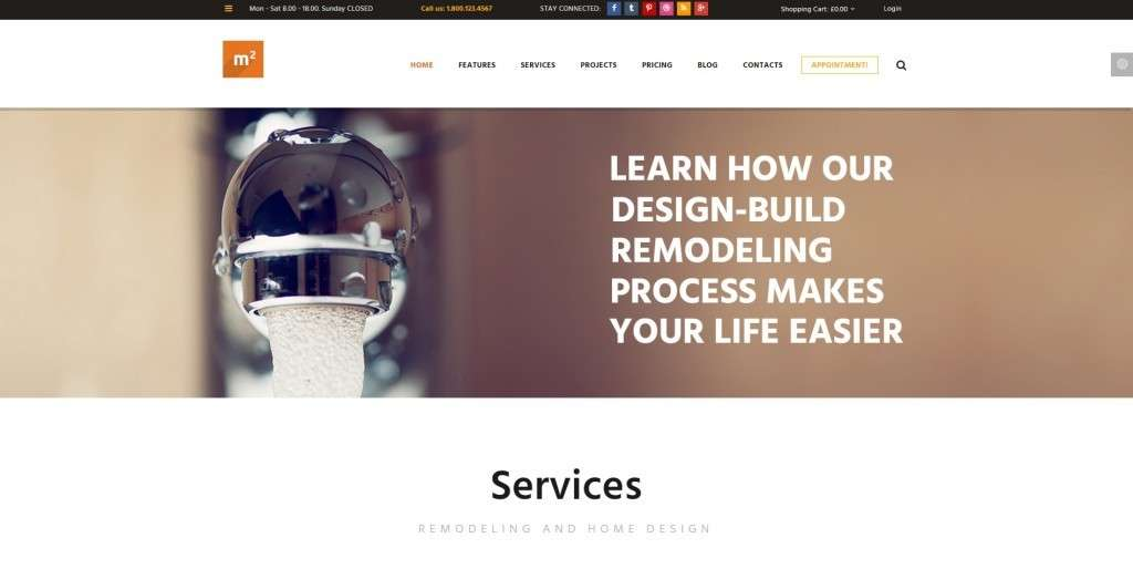 WordPress 2016 шаблоны сайта о ремонте