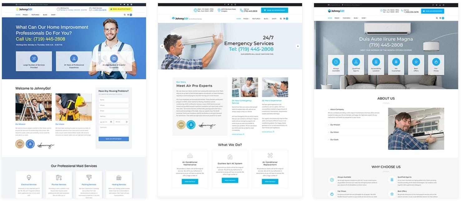 WordPress шаблоны сайта о ремонте с целевым дизайном