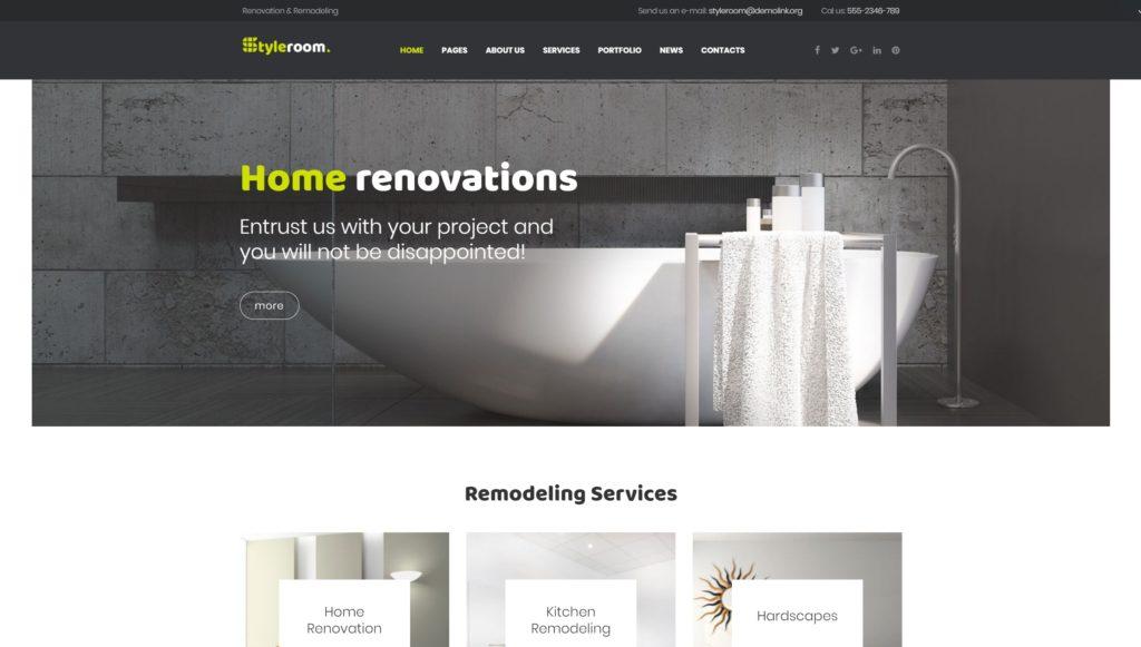 WordPress шаблоны сайта о ремонте с целевым дизайном 03