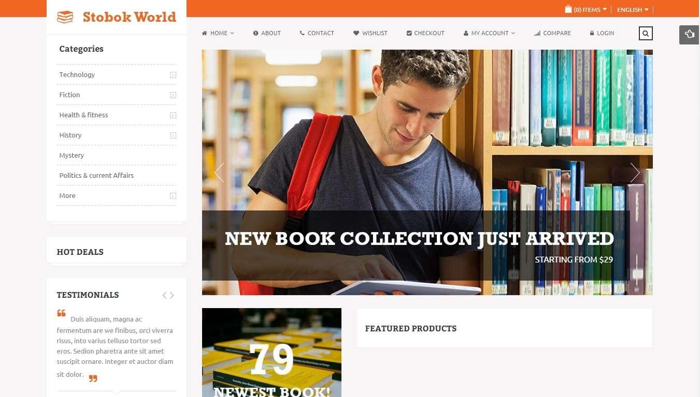 Адаптивные Magento шаблоны для книжного интернет магазина и библиотеки
