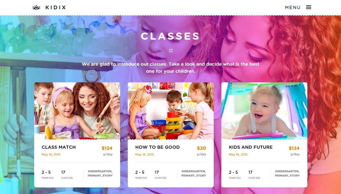 Готовый сайт детского садика- WordPress Шаблон