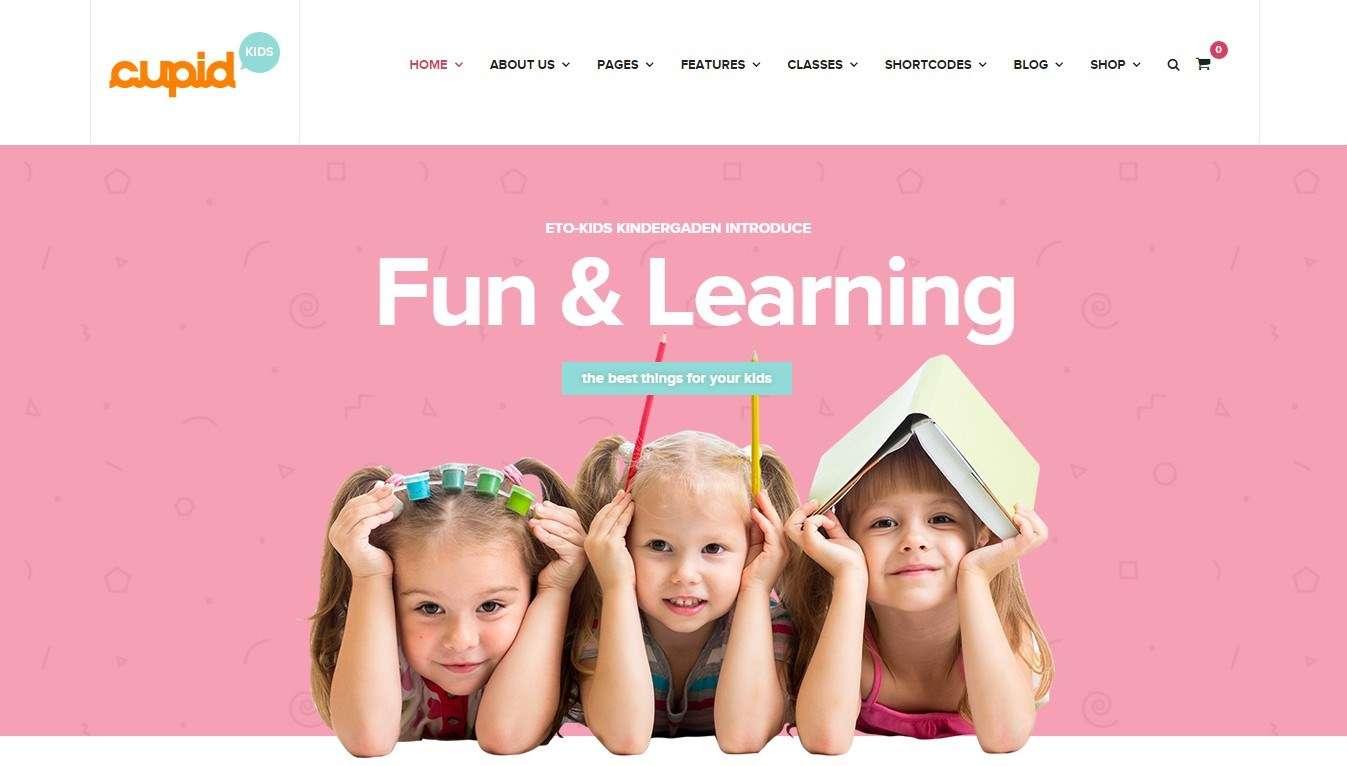 Красивый сайт детского сада базе WordPress