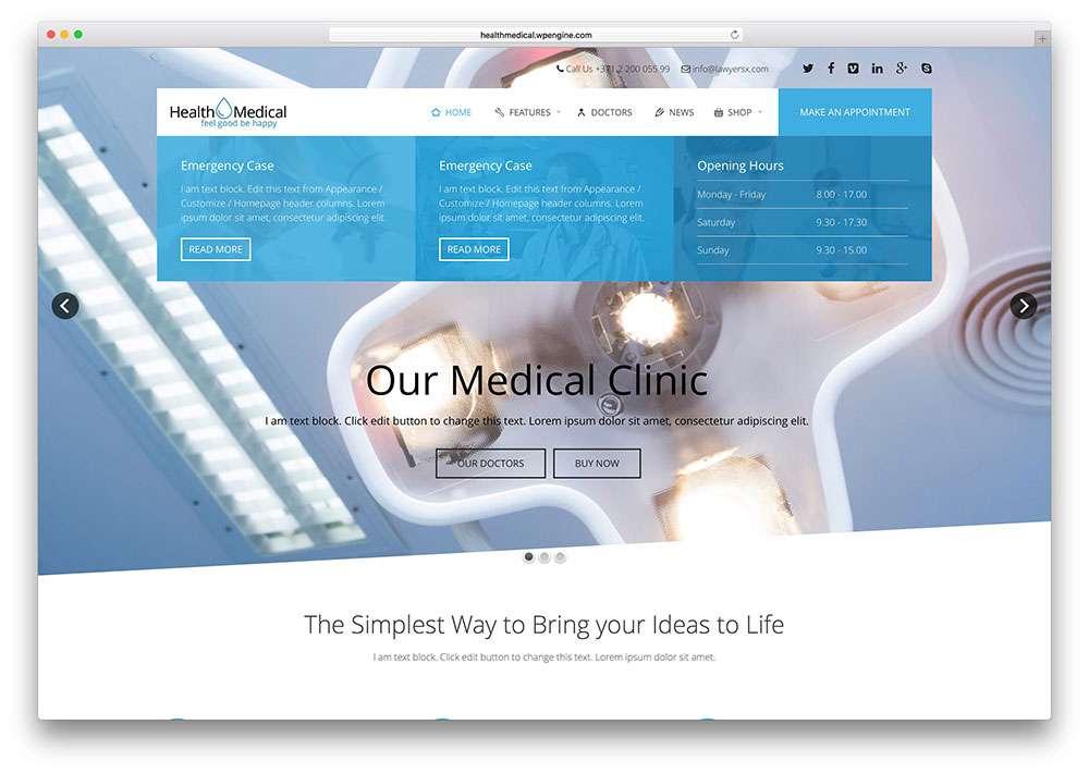 Простые темы WordPress для клиник и дантистов
