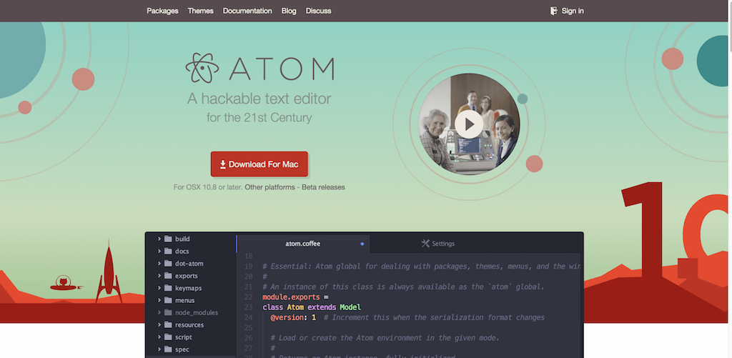 Редактор кода Atom