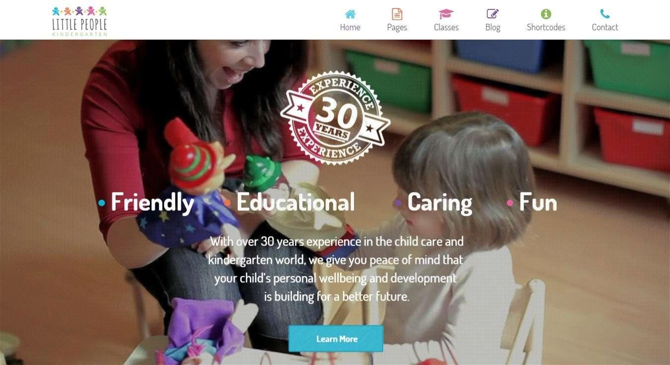 Сайт для деского сада - Cайт визитка на WordPress