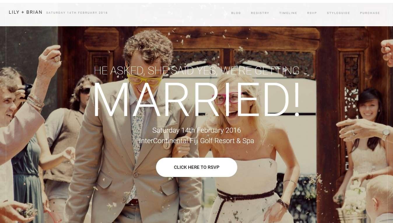 Свадебный сайт, молодожены