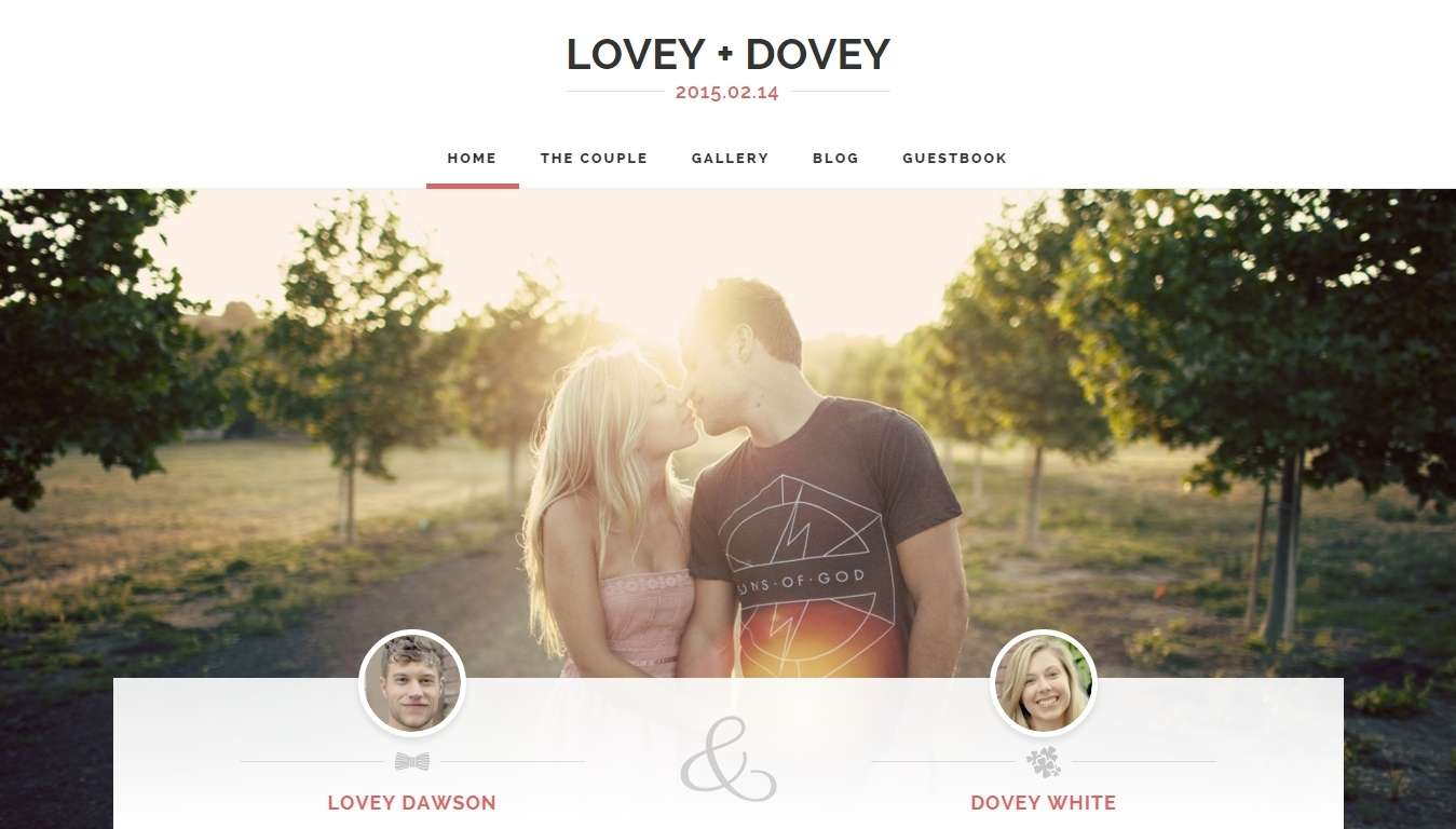 Современный свадебный сайт
