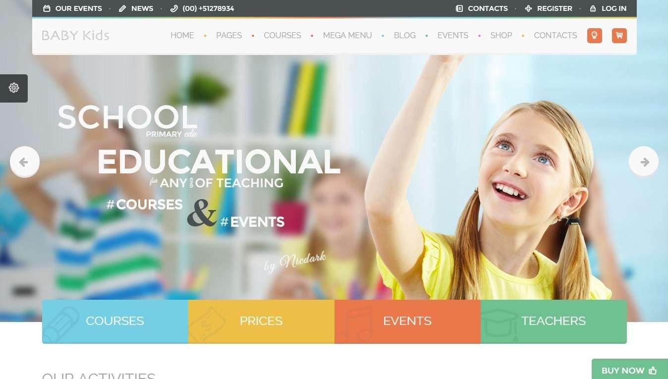Шаблон сайта для начальной школы на wordpress