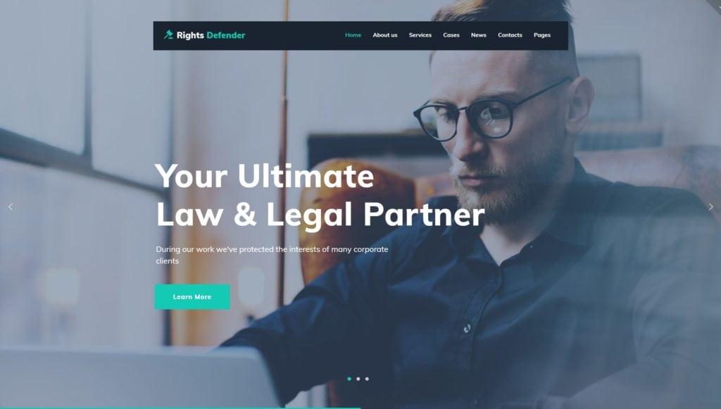 Деловые темы WordPress для адвокатов и юристов с формой записи 02