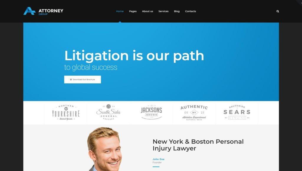 Деловые темы WordPress для адвокатов и юристов с формой записи 03