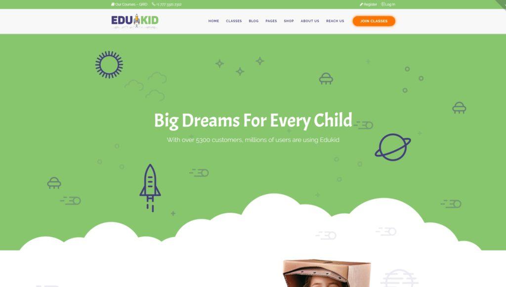 Сайт Детского Сада – Лучшие WordPress шаблоны детских сайтов 02