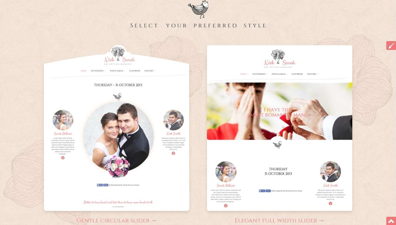 темы - шаблоны wordpress для свадебного сайта