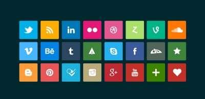 Стильные социальные кнопки для сайта на WordPress 2016
