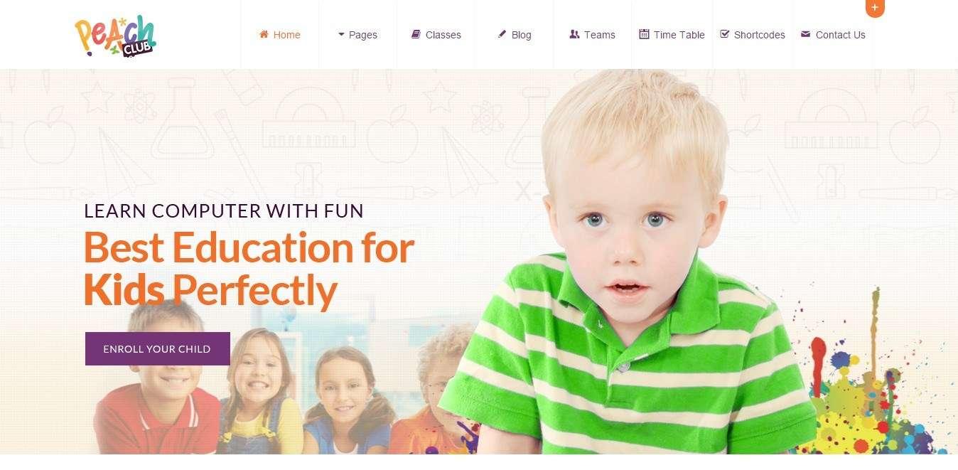 Wordpress тема для детского сада