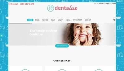 Готовый сайт для врача стоматолога на WordPress 2016
