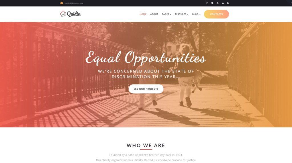 Шаблоны WordPress для благотворительных организаций, фондов и НКО 01
