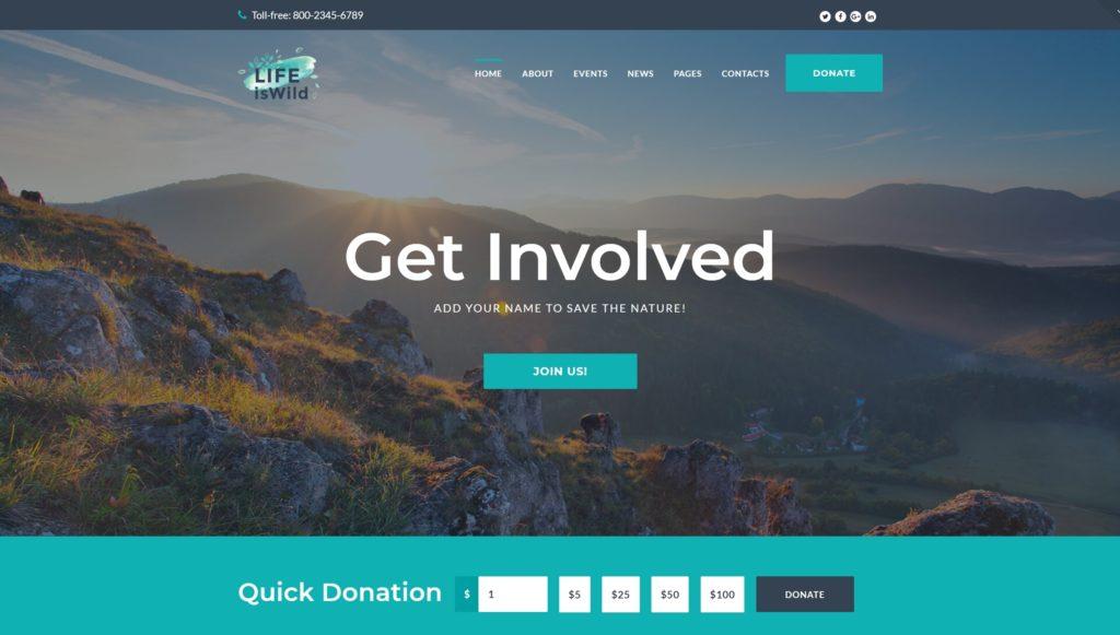 Шаблоны WordPress для благотворительных организаций, фондов и НКО 02