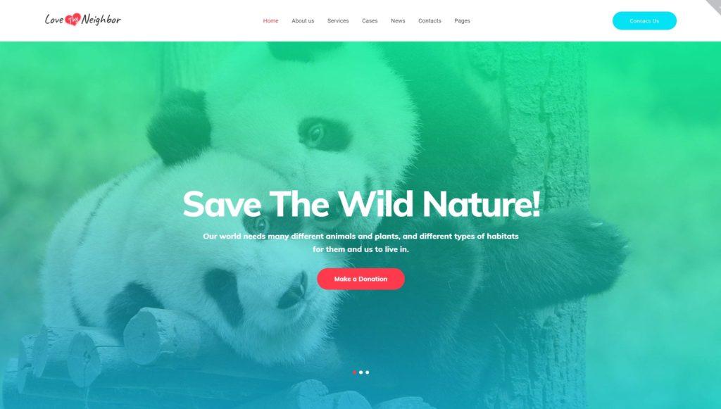 Шаблоны WordPress для благотворительных организаций, фондов и НКО 03