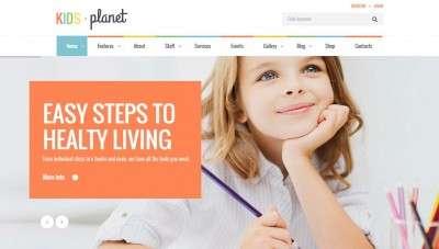 Сайт Детского Сада – Лучшие WordPress Шаблоны 2016
