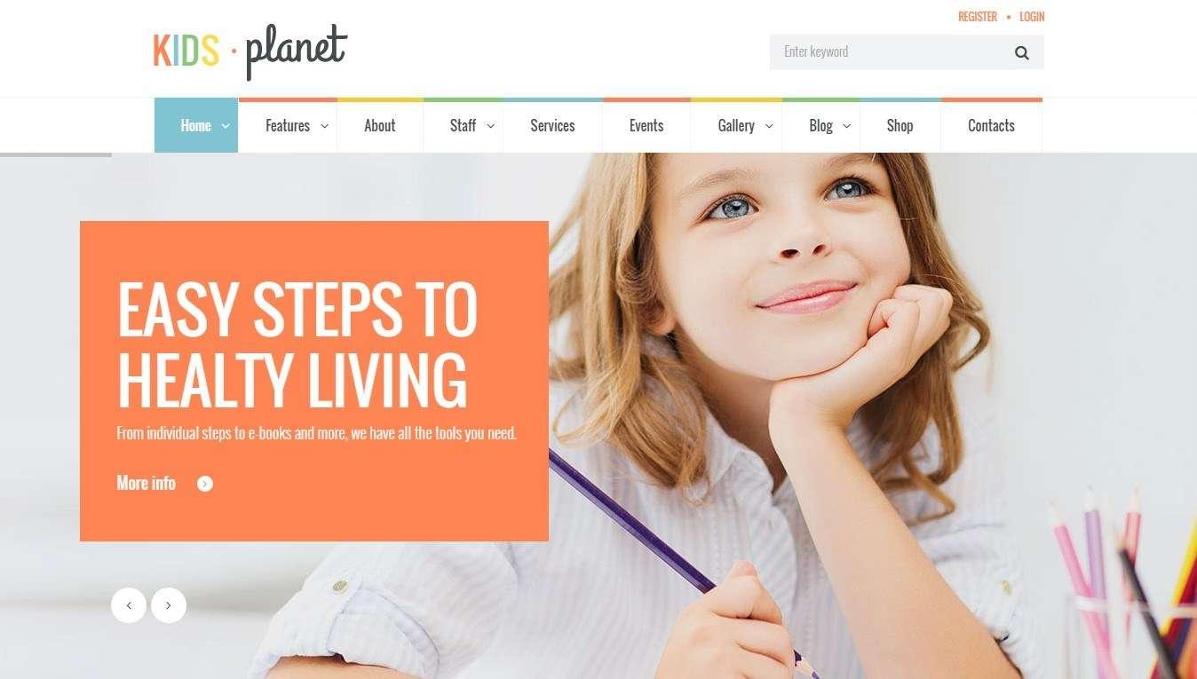 wordpress шаблон для детского сада