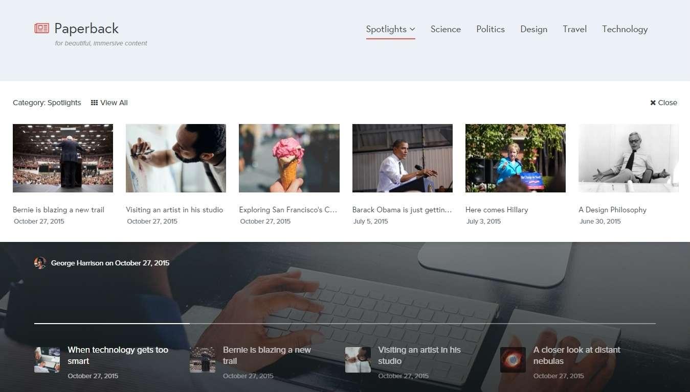 Красивый премиум шаблон WordPress для журнала