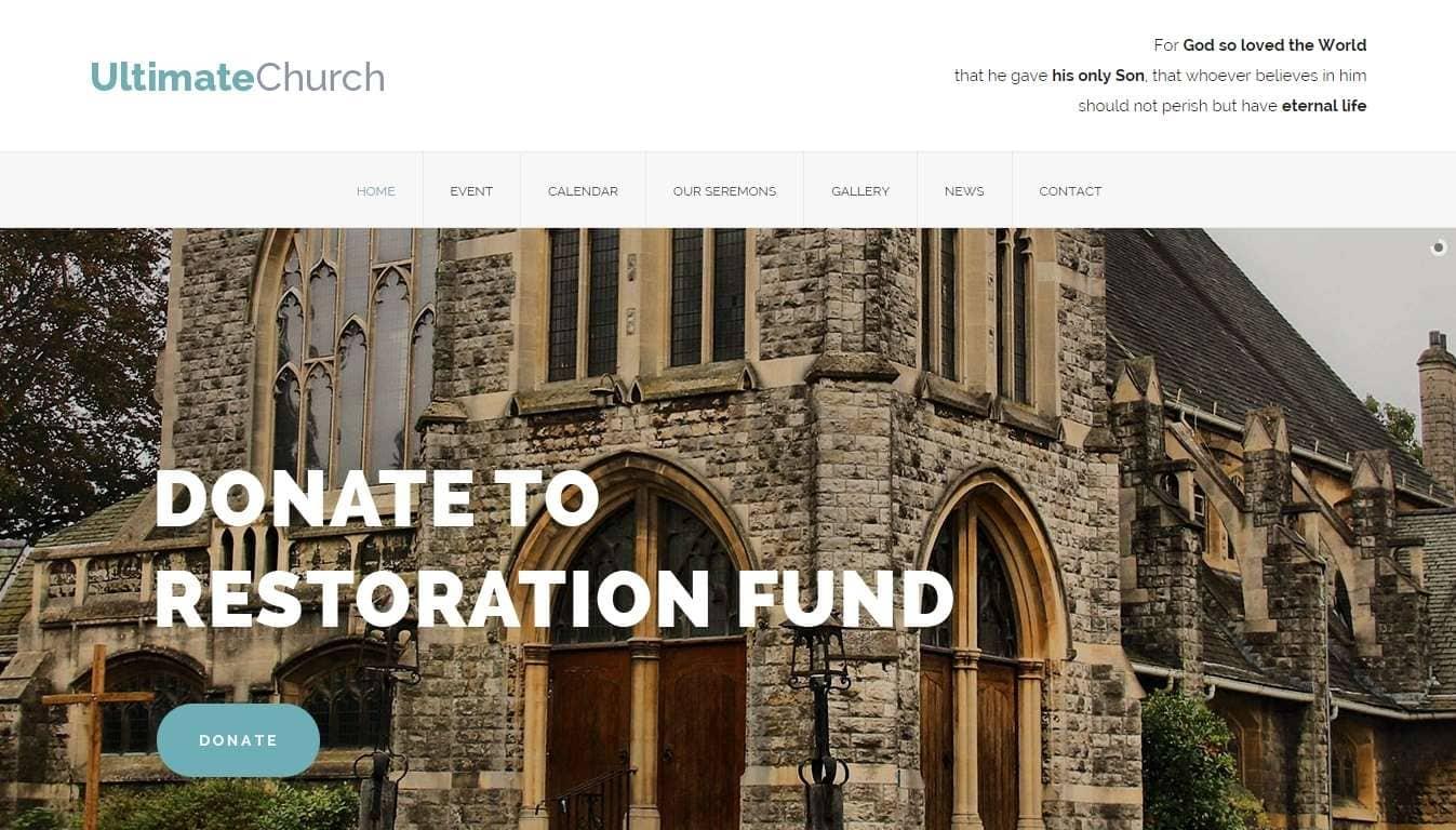 Православная церковь- Бизнес шаблон для церквей