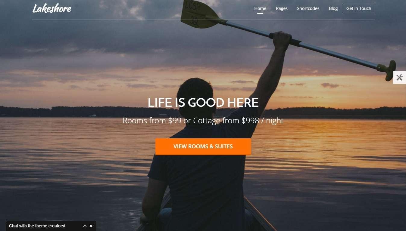 Самый лучший шаблон готового сайта для гостиницы, отеля, апартамента, курорта