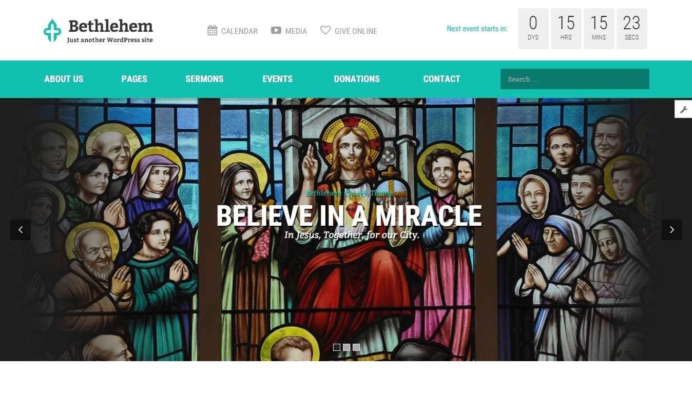 Шаблоны для церкви на WordPress - cайт для церкви