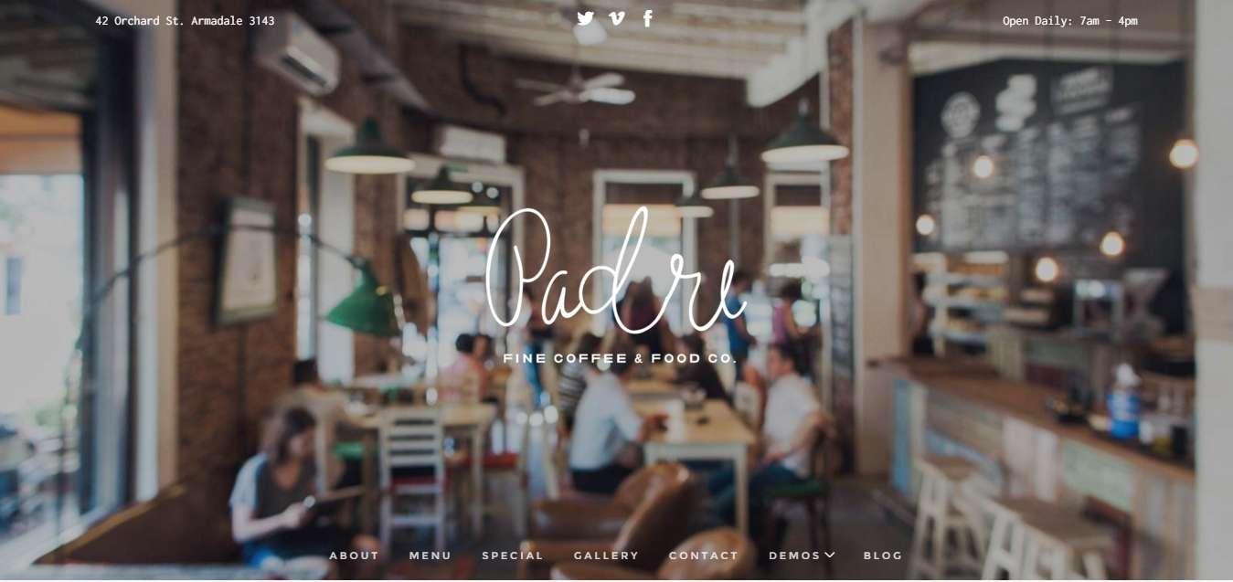 Wordpress шаблоны для ресторана