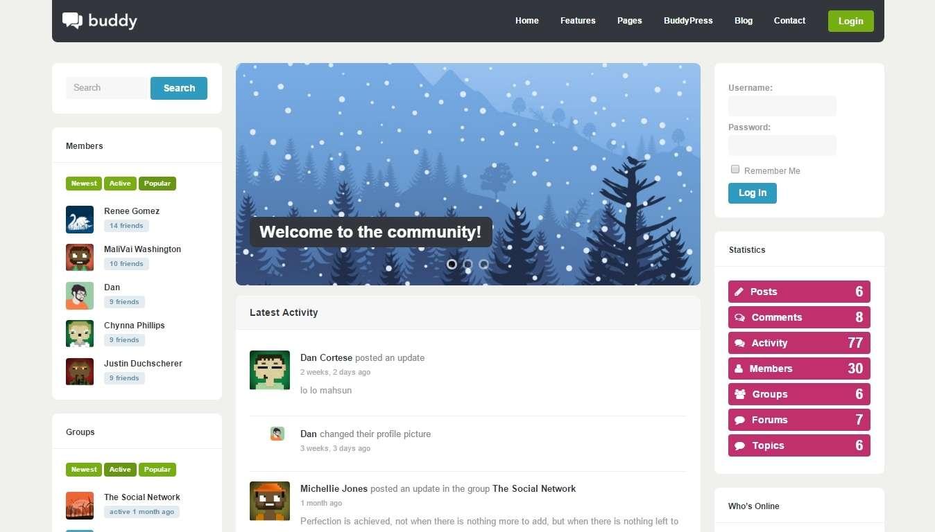 шаблоны WordPress для форума и сообществ